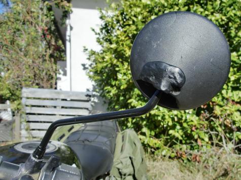 Motorcycle mirror repair