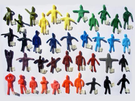 Colourful figurines