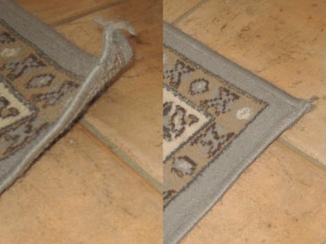 Curling rug repair