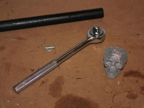 Skull cane attachment