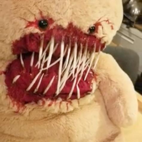 Terrifying teddy bear